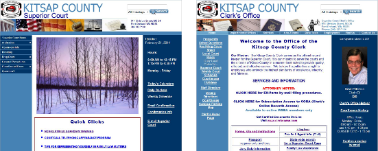 Kitsap County Superior Court and Clerk websites.