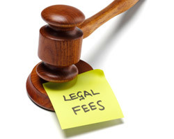 Gavel legal fees note